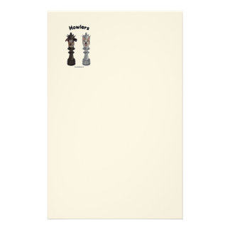 Howlers Chess Dogs Stationery Paper