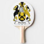 Howlett Family Crest Ping Pong Paddle