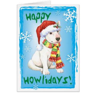 Howliday feliz bull terrier tarjeta de felicitación
