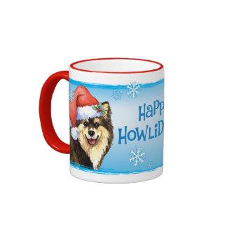 Howliday feliz Lapphund finlandés Tazas De Café