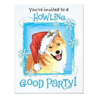 """Howliday feliz Shiba Inu Invitación 4.25"""" X 5.5"""""""