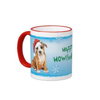 Howliday feliz Staffordshire bull terrier Taza A Dos Colores
