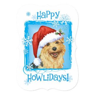 """Howlidays feliz Norfolk Terrier Invitación 5"""" X 7"""""""