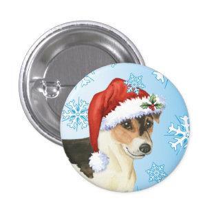 Howlidays feliz Russell Terrier Pin Redondo De 1 Pulgada