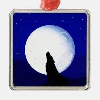 Howlin Coyote - Tucson Arizona Metal Ornament