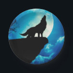 "Howlin wolf - wolf art - moon wolf - wild wolf paper plate<br><div class=""desc"">full moon , wild animal, mexican wolf , wolf animal , american wolf , wolf painting , canis wildlife creature animals , art beautiful lupus predator  , beast mammals nature angry  , male howl night, </div>"