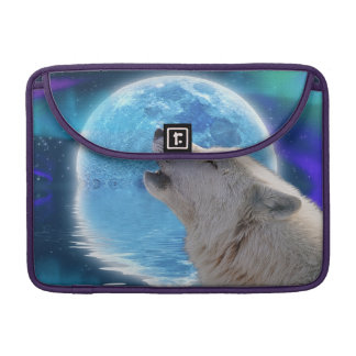 Howling Arctic Wolf Art Wildlife MacBook Flap Case