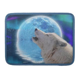 Howling Arctic Wolf Art Wildlife MacBook Flap Case Sleeves For MacBooks