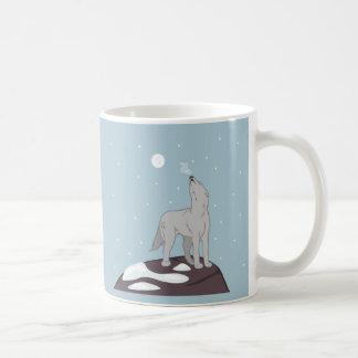 Howling Arctic Wolf Coffee Mug