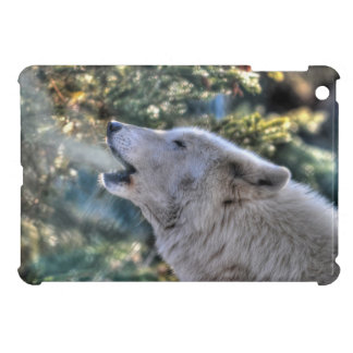 Howling Arctic Wolf & Forest Wildlife Art iPad Mini Cases