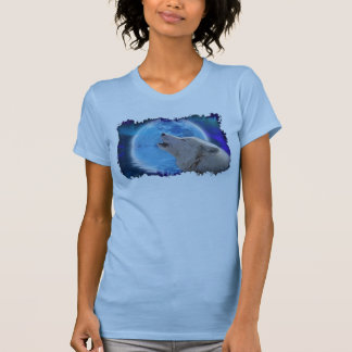 Howling Arctic Wolf & Moon Earth Day Art Tank Top