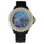 Howling Arctic Wolf & Moon Wildlife Art Watch