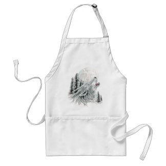 Howling at the Face in the Moon Aprons