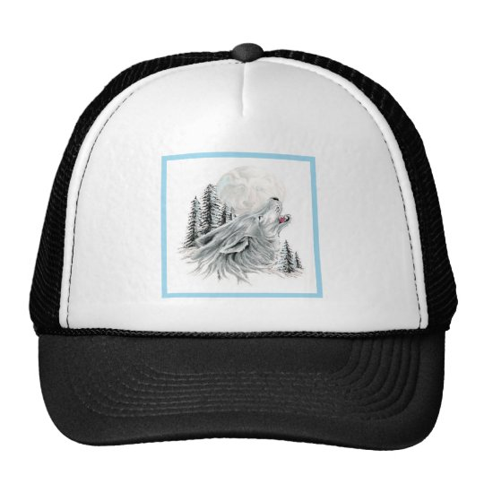 Howling at the Face in the Moon Trucker Hat