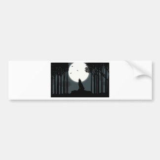 howling at the Moon Bumper Stickers