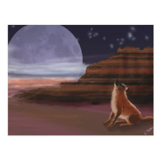 Howling at the Moon Postcard