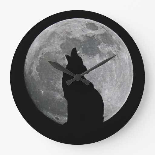 HOWLING AT THE MOON ROUND CLOCKS