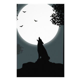 howling at the Moon Stationery Paper