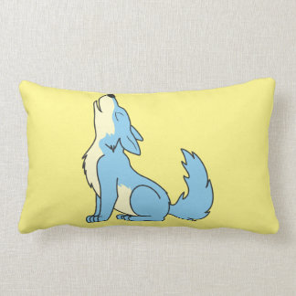 Howling Baby Blue Wolf Pillows
