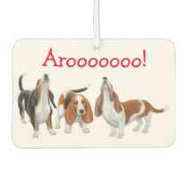 Howling Basset Hound Dogs Air Freshener