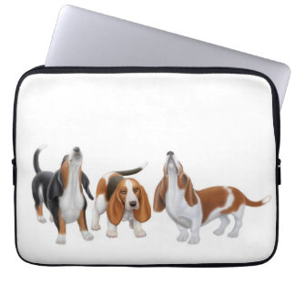Howling Basset Hound Dogs Electronics Bag