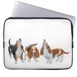 Howling Basset Hound Dogs Electronics Bag Computer Sleeve