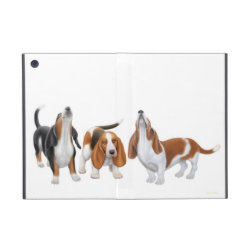 Powis iCase iPad Mini Case with Kickstand with Basset Hound Phone Cases design