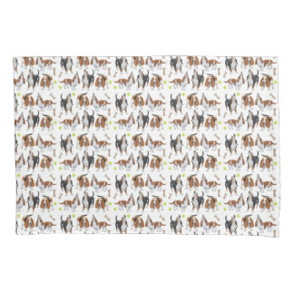Howling Basset Hound Dogs Pillowcase