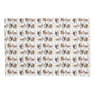 Howling Basset Hound Dogs Pillowcase