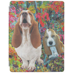 iPad 2/3/4 Cover with Basset Hound Phone Cases design