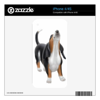 Howling Basset Hound Zazzle Skin Decals For iPhone 4S