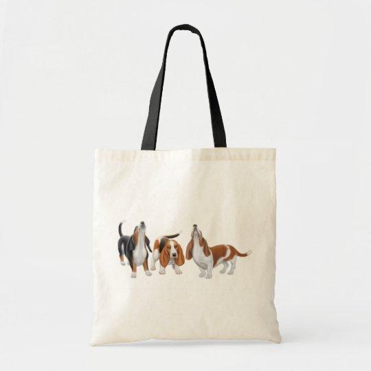 Howling Basset Hounds Bag