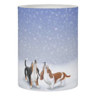 Howling Basset Hounds Flameless Candle