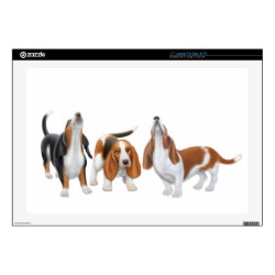 17' Laptop Skin for Mac & PC with Basset Hound Phone Cases design