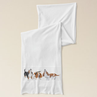 Howling Basset Hounds Scarf