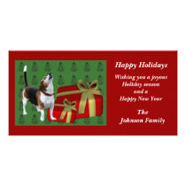 Howling Beagle Animal Christmas Holiday Card