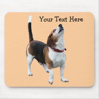 Howling Beagle Cute Dog Mousepad