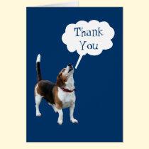 Howling Beagle Cute Dog Thank You Card