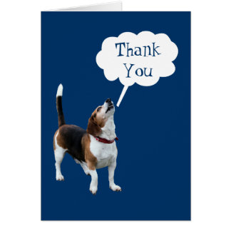 Howling Beagle Cute Dog Thank You Card