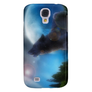 Howling Black Wolf Galaxy S4 Cover