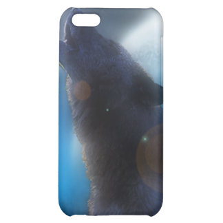 Howling Black Wolf iPhone 5C Cover