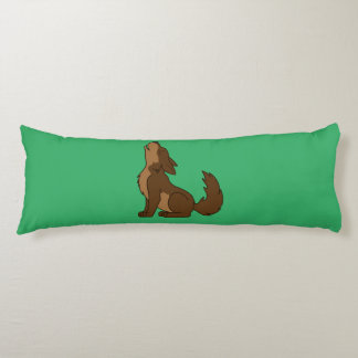 Howling Brown Wolf with Natural Markings Body Pillow