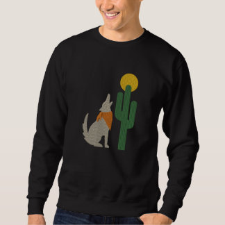 Howling Coyote Embroidered Sweatshirt