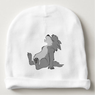 Howling Gray Werewolf Pup Baby Beanie
