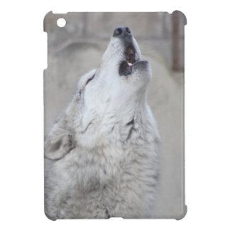 Howling Gray Wolf iPad Mini Cases