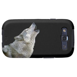 Howling grey wolf beautiful photo portrait gift samsung galaxy s3 cover