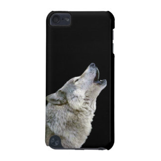 Howling grey wolf beautiful photo portrait, gift iPod touch (5th generation) cases