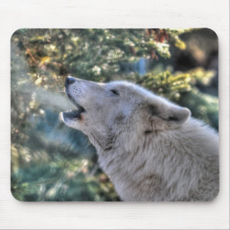 Howling Grey Wolf Wildlife Photo Mouse Pad