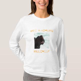 Howling Halloween dog shirt