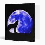 Howling Lonely Wolf at Moon Avery Binder